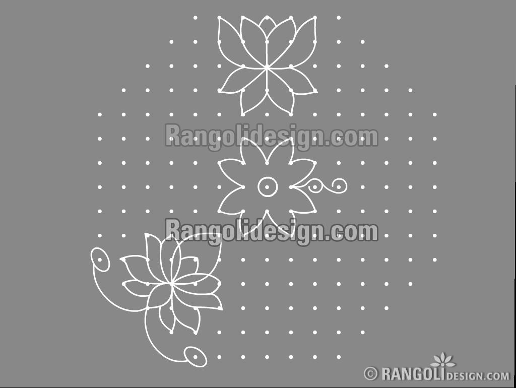 lotus dotted rangoli design