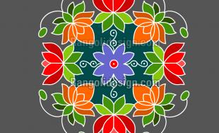 Lotus Rangoli Design