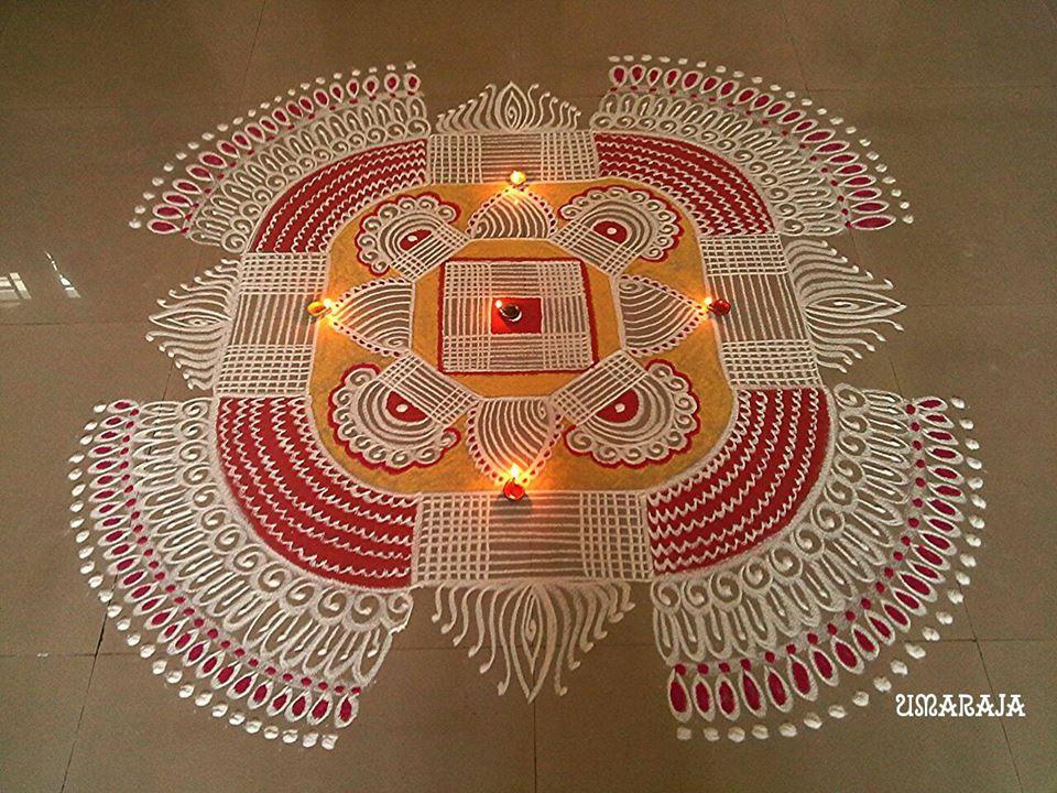 14 diwali kolam design by uma raja | Image