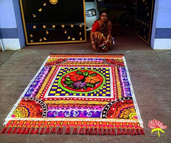 15 carpet margazhi kolam design by mangalam srinivasan | Image