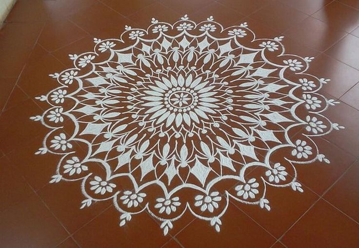 19 freehand rangoli design by homemakeoverin image for Floor rangoli design