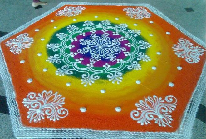 diwali rangoli design by homemakeoverin -  2
