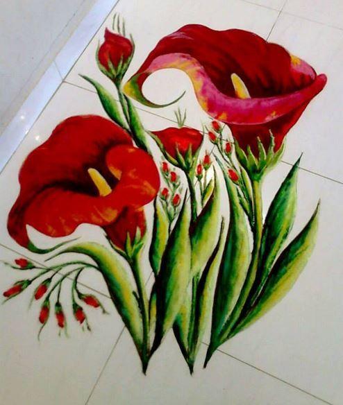 freehand rangoli design