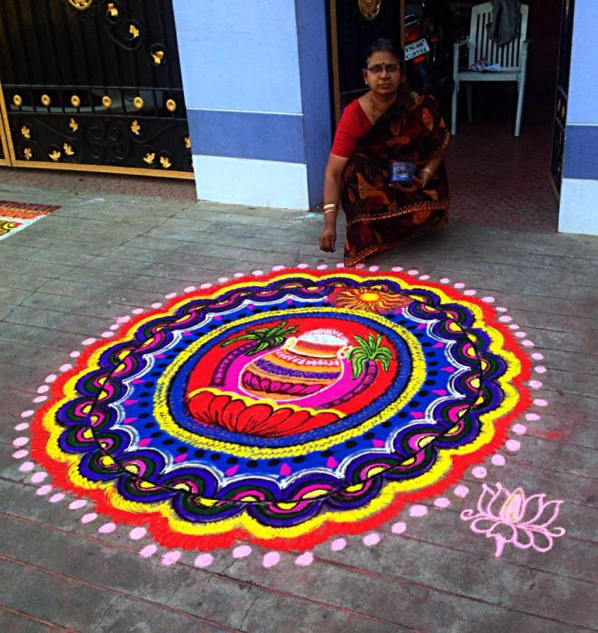 Wedding Kolam Images: 22 Pongal Kolam Design By Mangalam Srinivasan