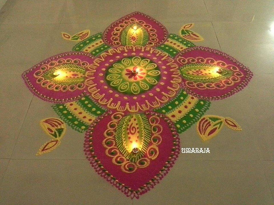 diwali kolam design by uma raja | Image
