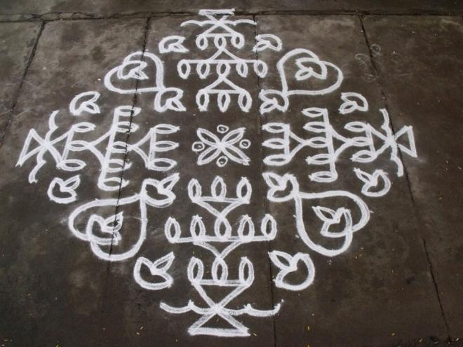 ner pulli kolam by rathna -  4