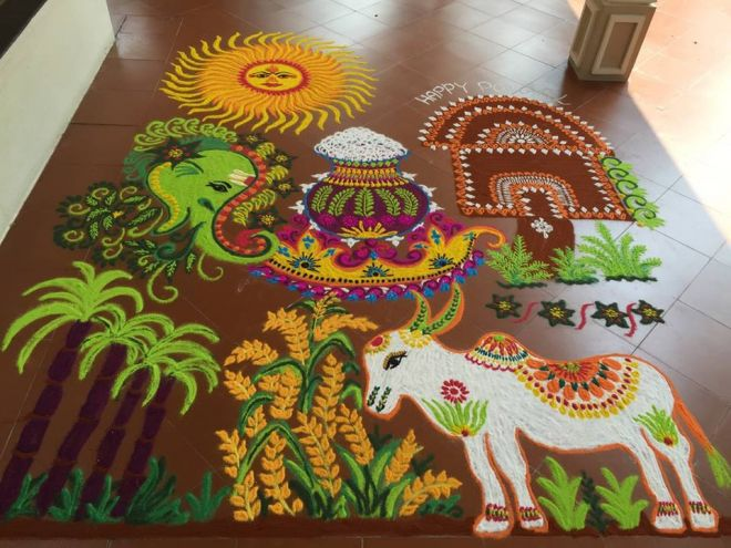 6 pongal kolam design by mash