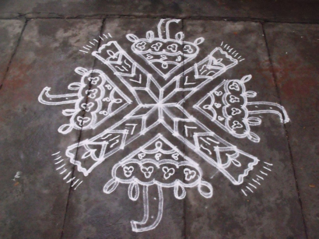 umbrella pulli kolam