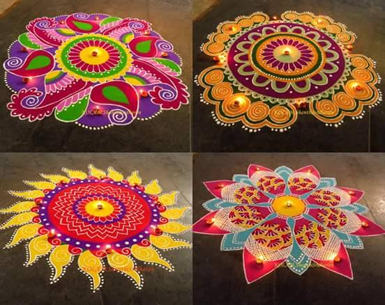 beautiful diwali rangoli design by shanthi sridharan
