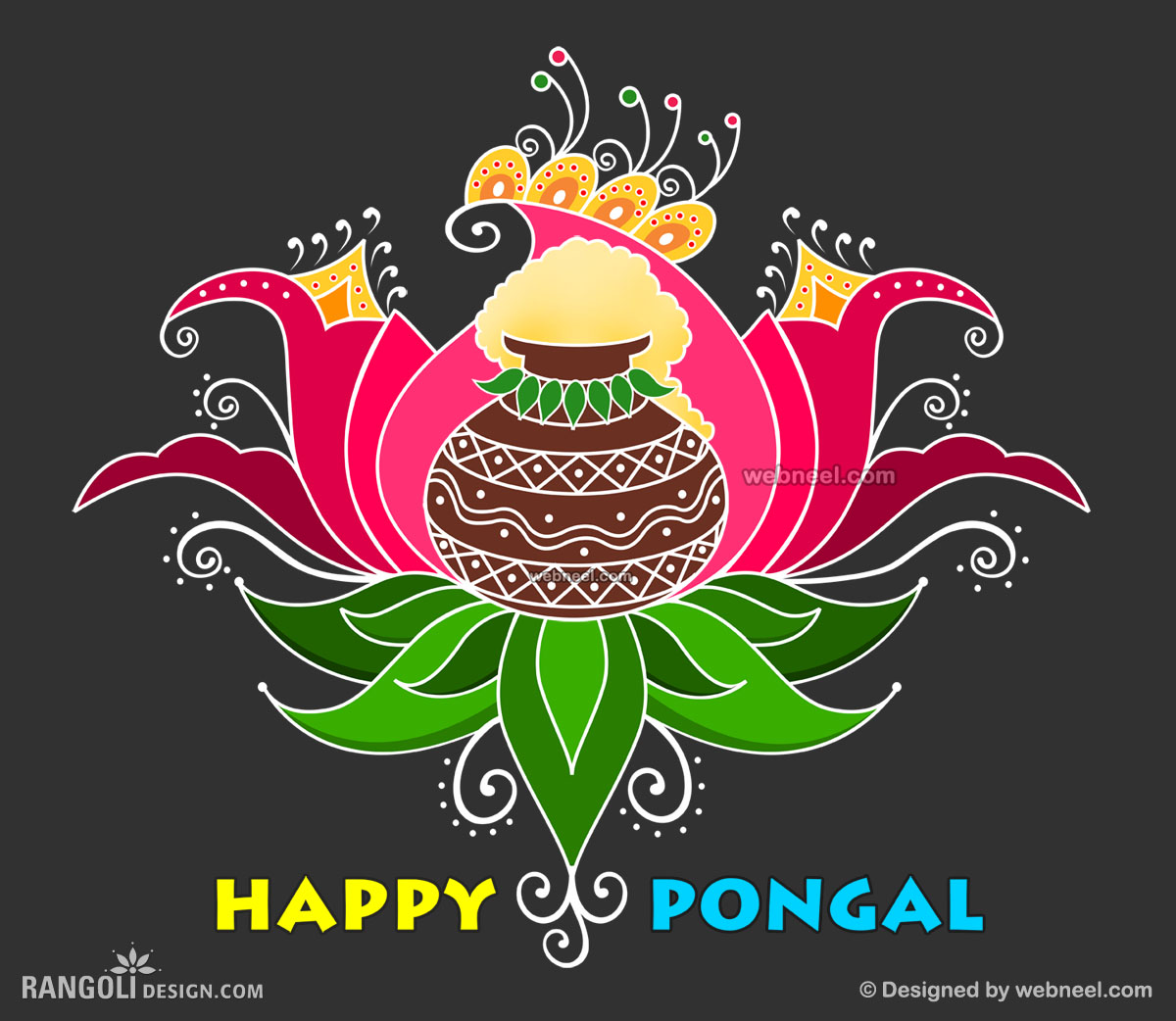 25 beautiful pongal greeting cards and design ideas in tamil pongal greetings card design by webneel pongal kolam design kristyandbryce Images