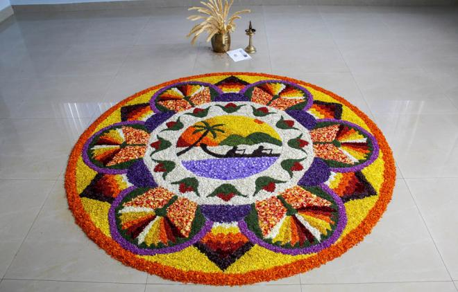 onam pookalam design by rahul sd -  10