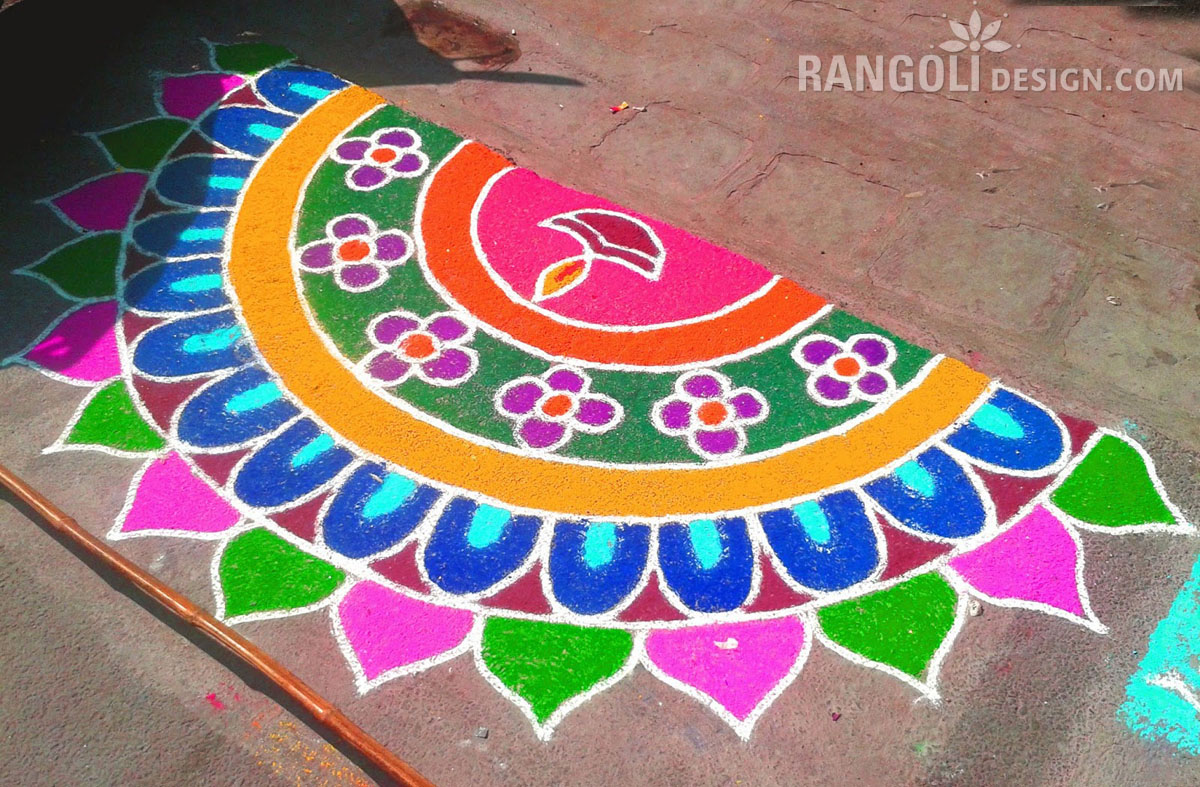 beautiful rangoli design diwali