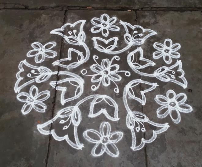 23 dotted kolam by rathna