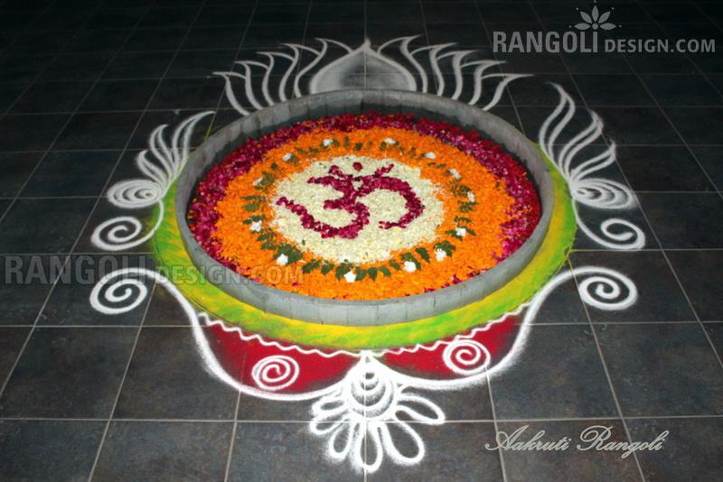 hindu rangoli design by aakruti