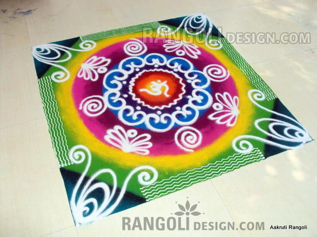rangoli design by aakruti
