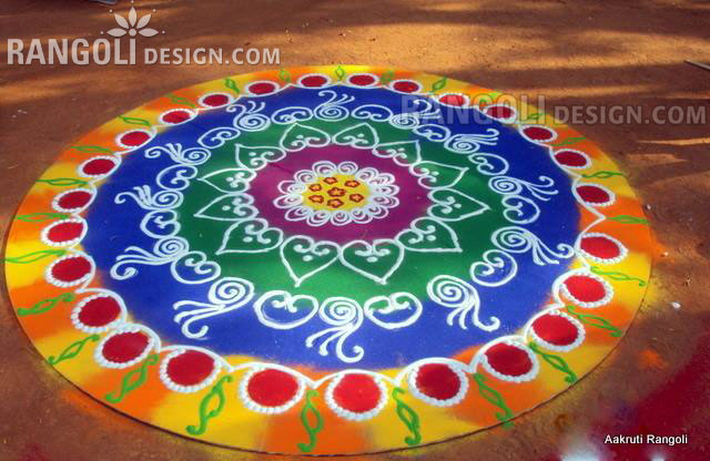 rangoli design by aakruti
