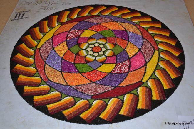 onam pookalam design by jomy ag