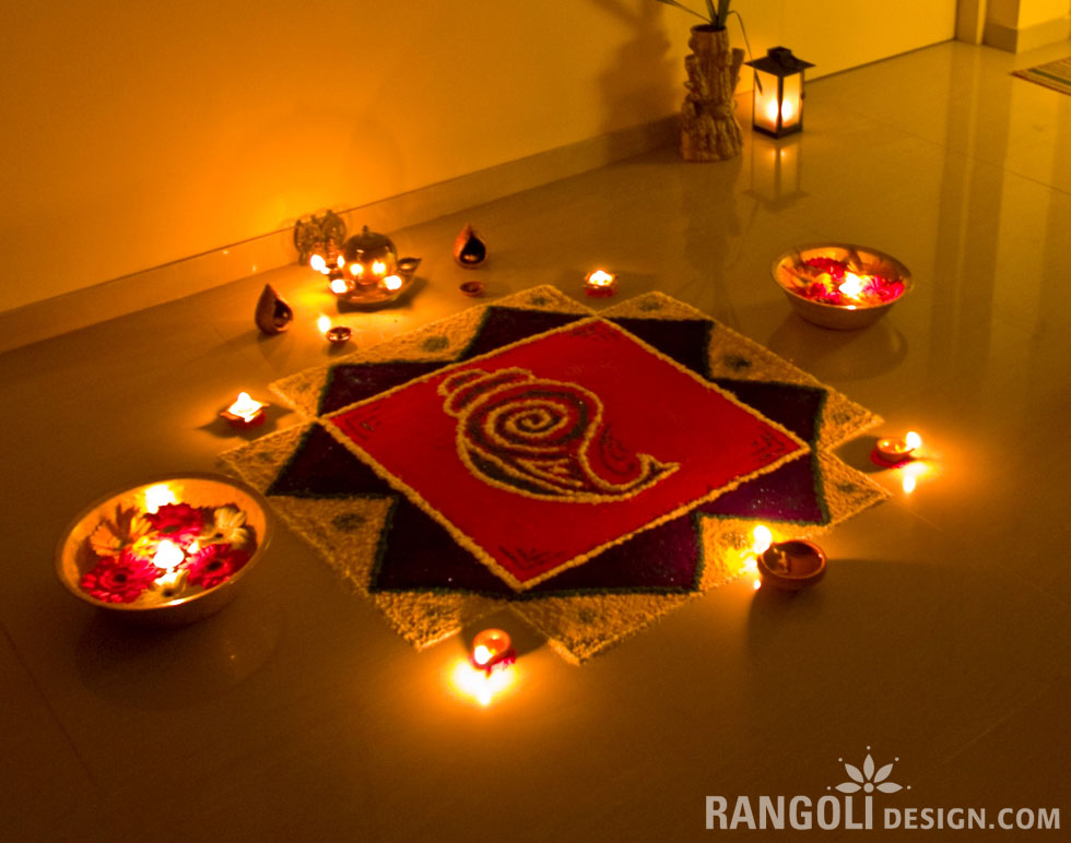 simple rangoli design diwali