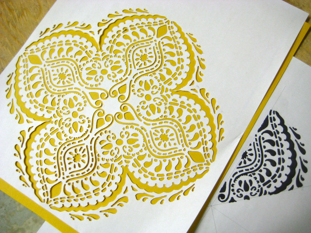 6 Laser Cut Stencil Rangoli Design By Brillist Designs Image