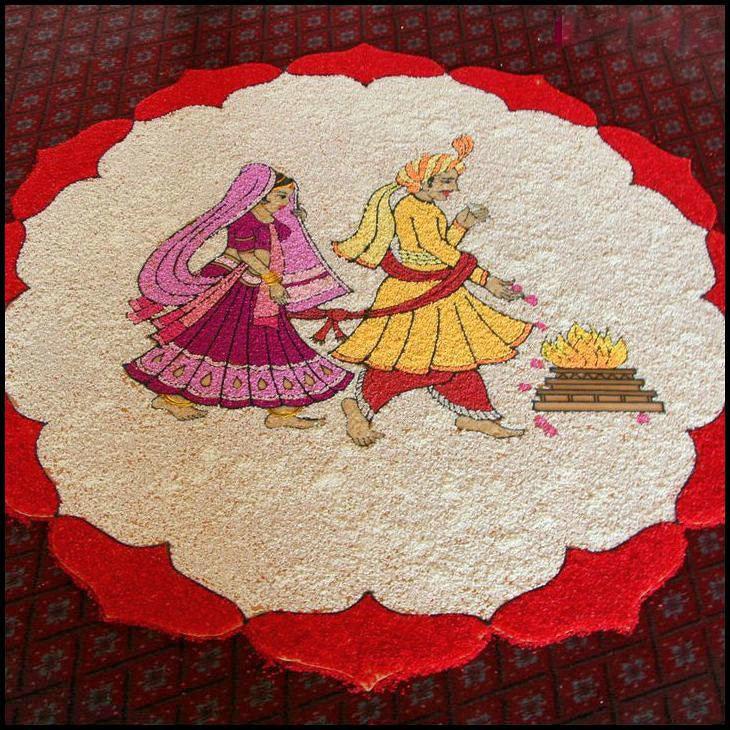 Wedding Kolam Images: 6 Wedding Pulses Rangoli Design