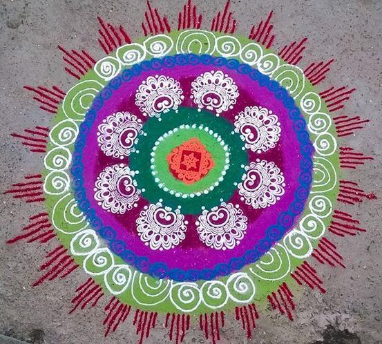 8 Stencil Rangoli Design Image