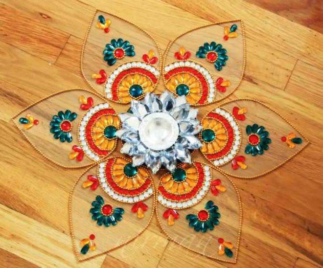 10 kundan rangoli design by nirman