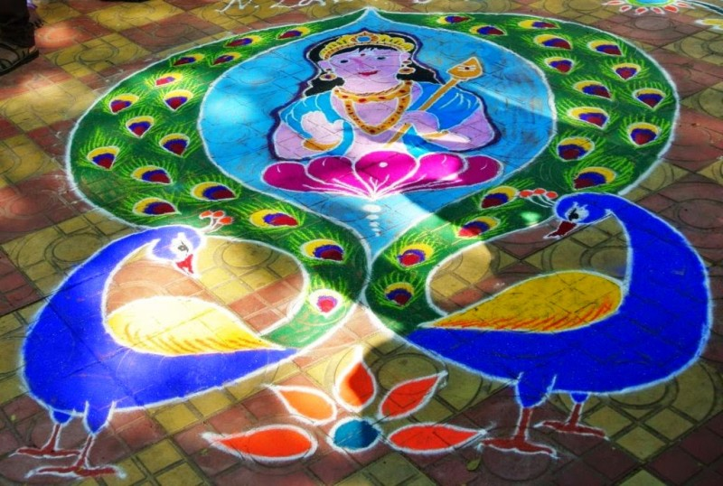 Kolam Design By Kamala Corner 11