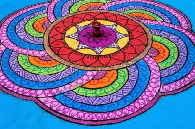 13 simple rangoli design