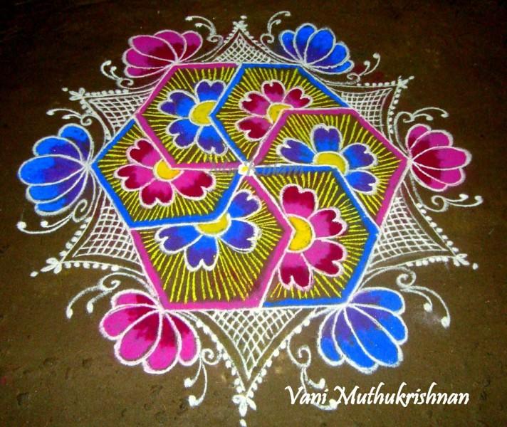 16 Rangoli Design By Vani Muthukrishnan Image