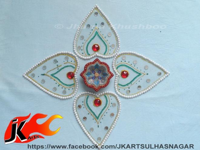 22 kundan rangoli design by jk arts