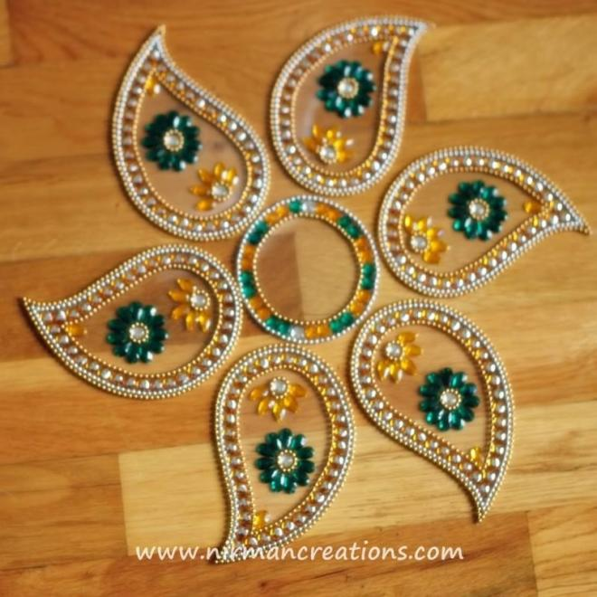 4 kundan rangoli design by nirman