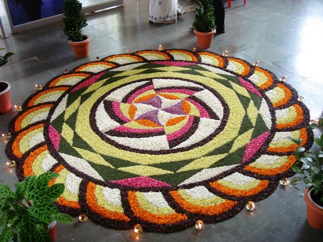 beautiful onam pookalam rangoli design