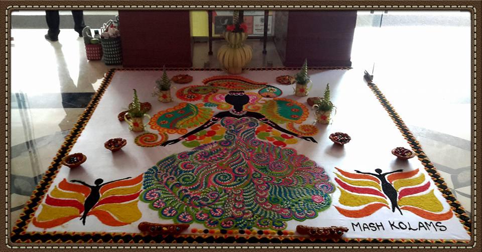 beautiful indian rangoli design
