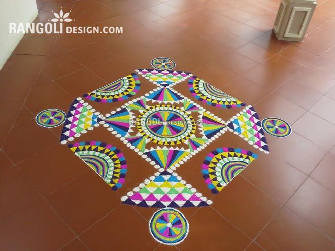 rangoli design wheel