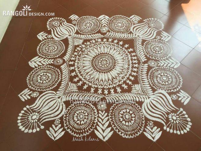 rangoli design flower