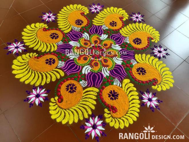 rangoli design mango