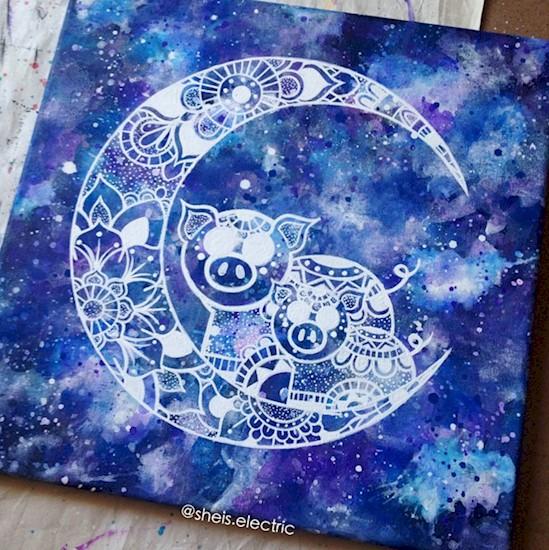 acrylic rangoli design by michelle pugle