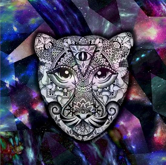 3 acrylic rangoli design by michelle pugle