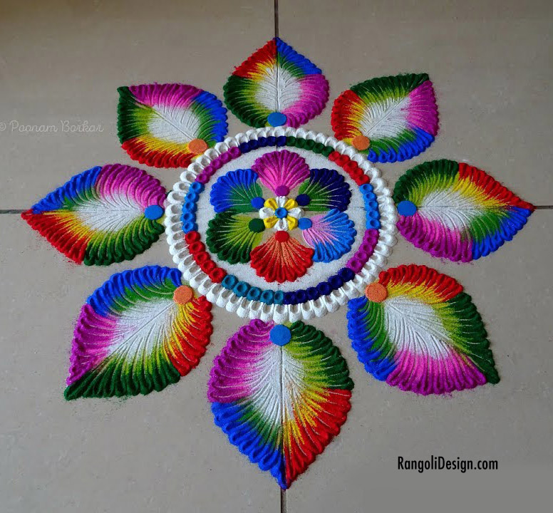 vibrant rangoli design holi festival