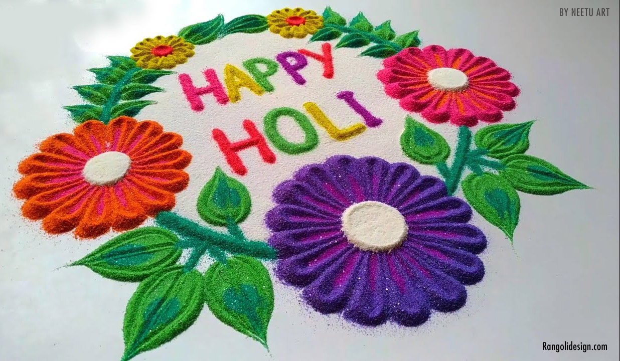 floral pattern rangoli design holi festival