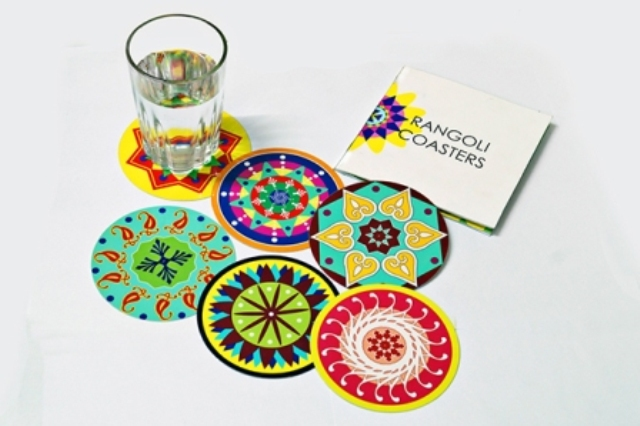 coasters rangoli designs by sakshi taplu