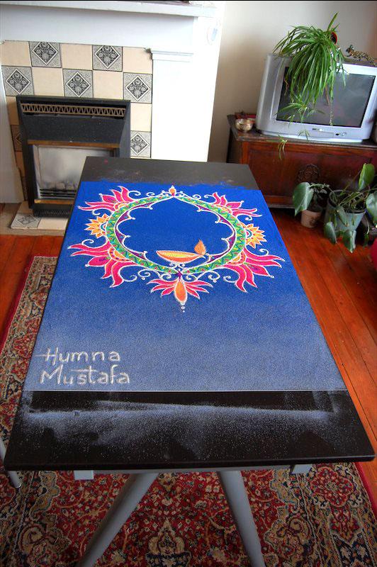 diwali rangoli design by humna mustafa