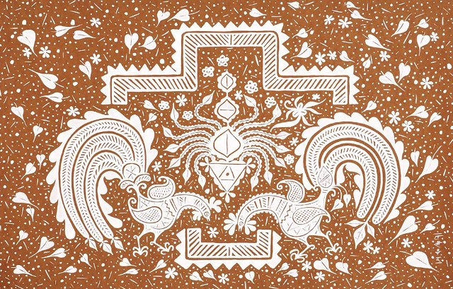 dotted rangoli designs by lakhi chand jain