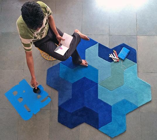 zigzag rangoli designs by hardik gandhi