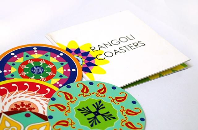 5 coasters rangoli designs by sakshi taplu