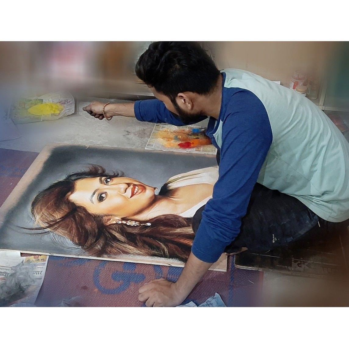 10 portrait rangoli art painting woman kartik khadatkar