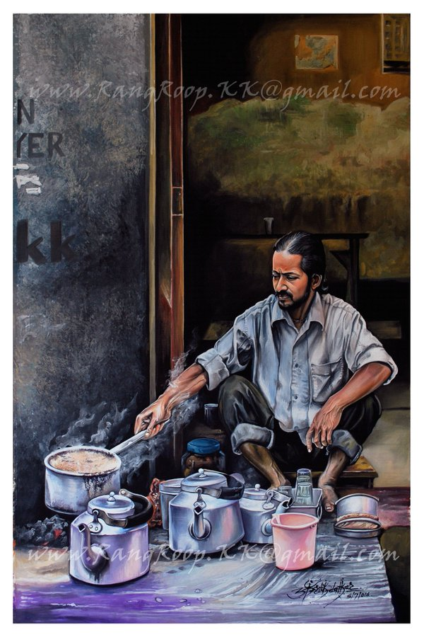 12 portrait rangoli art painting cook kartik khadatkar