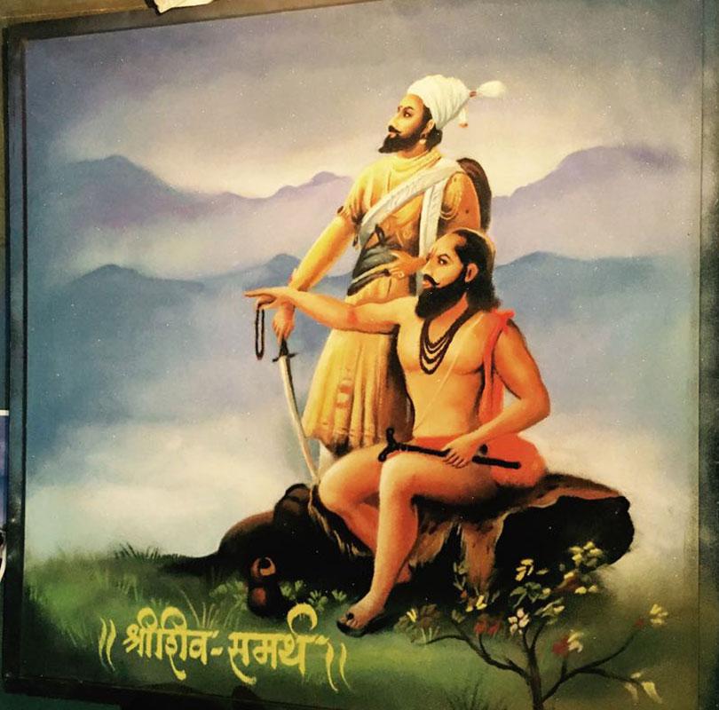 portrait rangoli art shree shiv minar patilsamartha