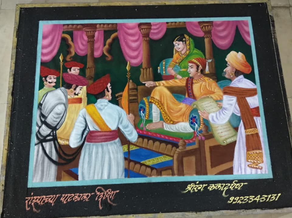 11 rangoli design story telling akshay shahapurkar
