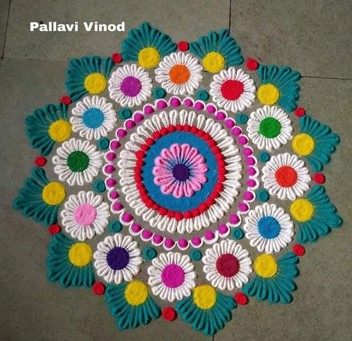 15 rangoli design star pallavi vinod